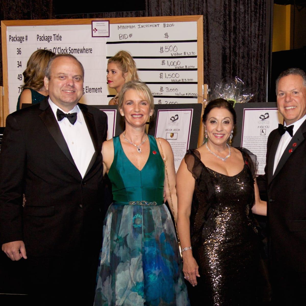 Montgomery County Heart Ball, Feb. 2016, Richard Wilken, Tracy Wilken, Shirley Alexander, Ralph Alexander