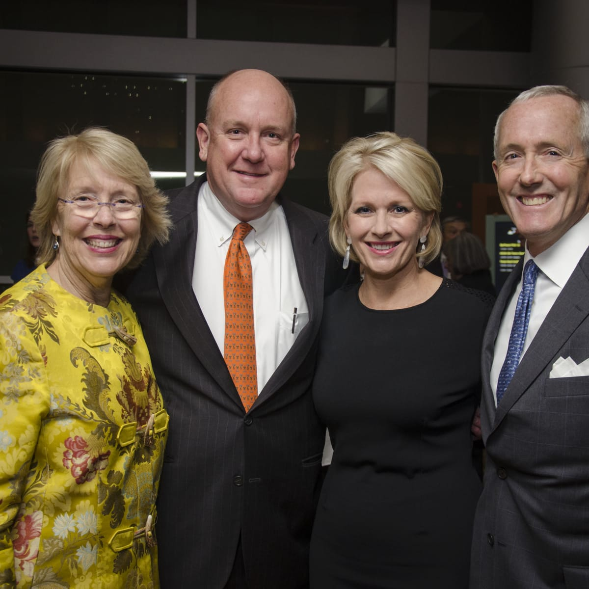 Texas Heart Institute dinner, Feb. 2016, Susan Cooley, Dr. Charles Fraser, Helen Fraser, Dr. John Craddock