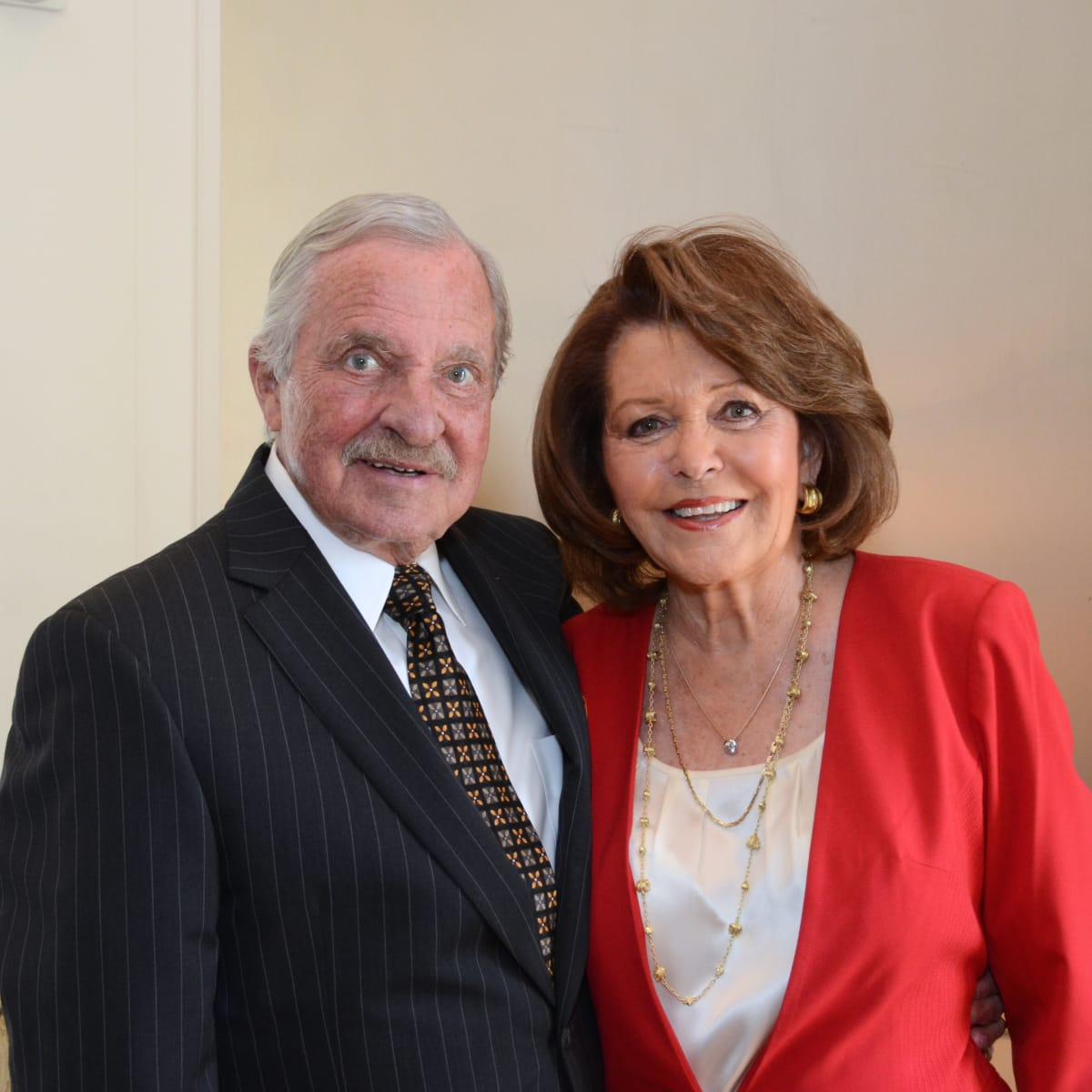 The Center luncheon, Feb. 2016, Jim Woods, Jeanette Woods