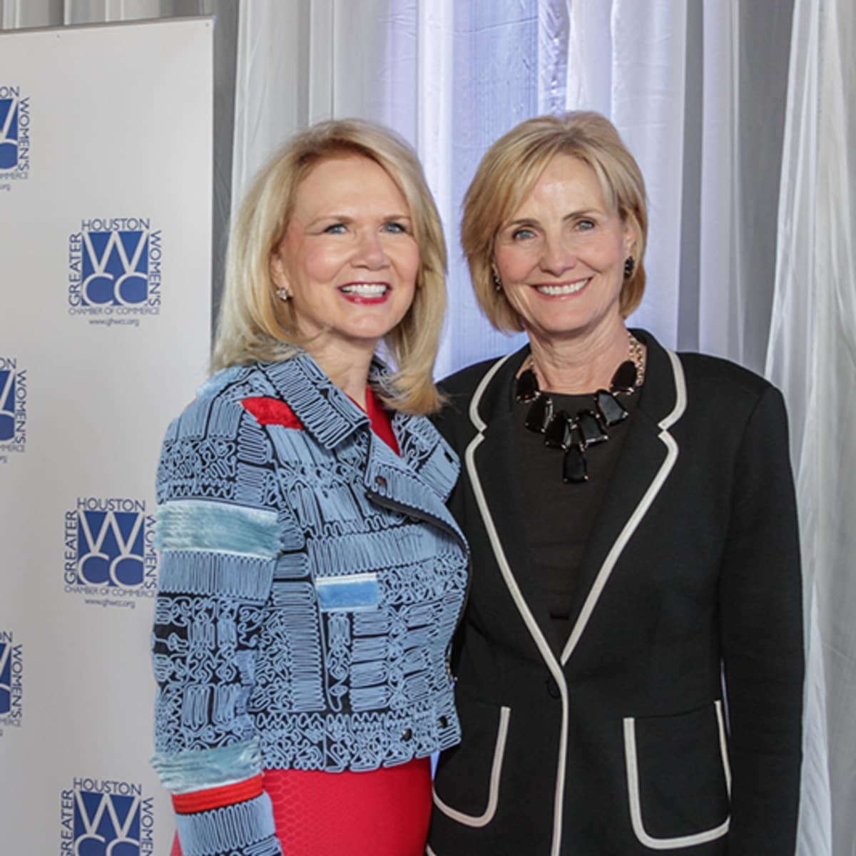 Greater Houston Women's Chamber of Commerce luncheon, Feb. 2016, Suzan Deison, Valerie Gibbs