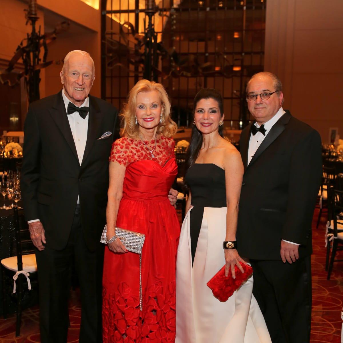 HGO Concert of Arias, Feb. 2016, Dan breen, Pat Breen, Cynthia Petrello, Tony Petrello