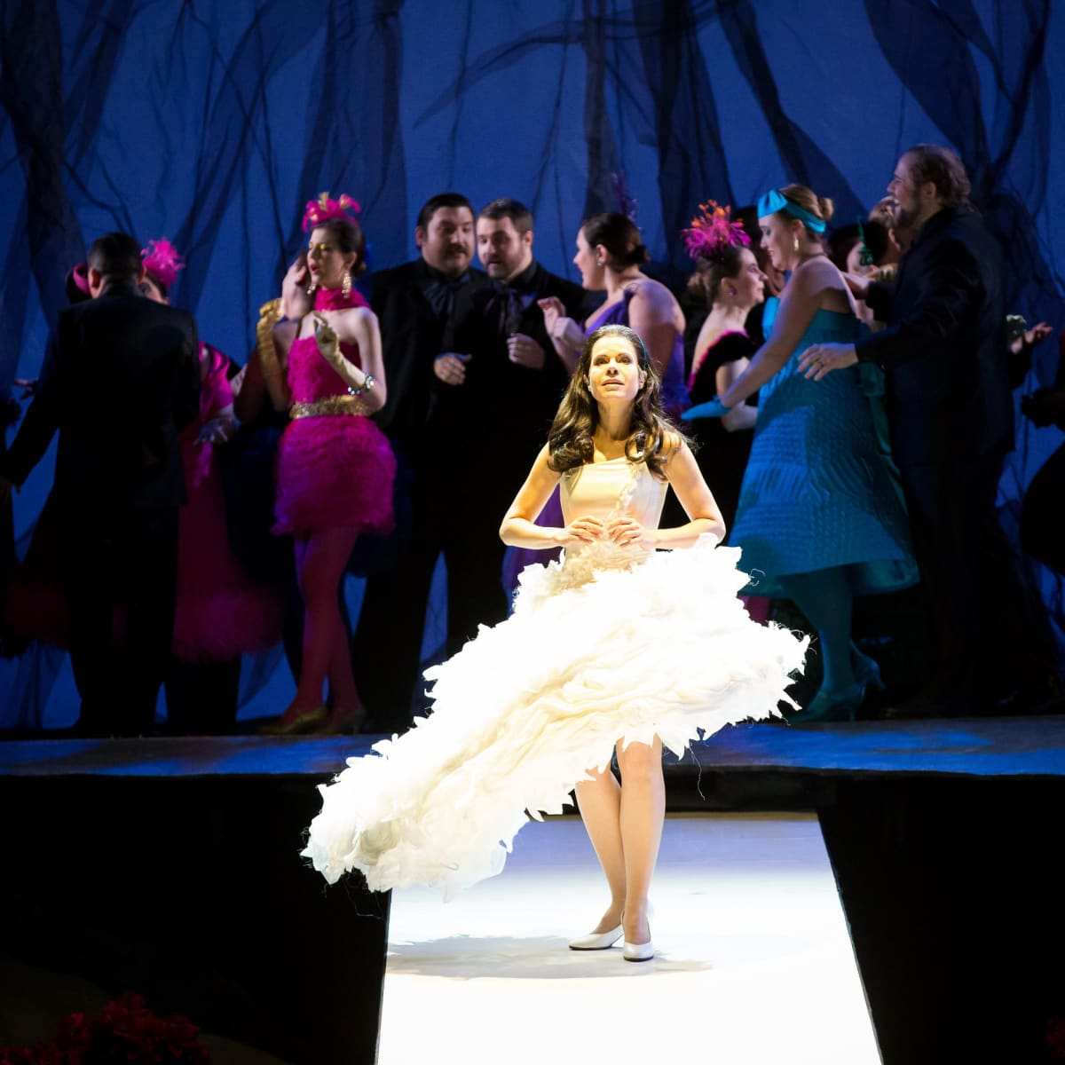Anna Maria Martinez and Houston Grand Opera chorus in Rusalka