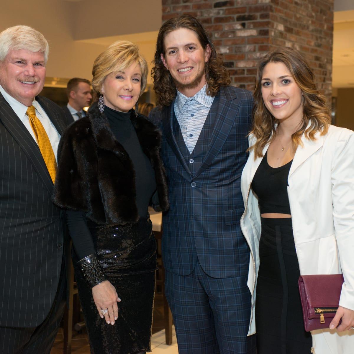 Astros Diamond Gala, Jan. 2016, Ken Giles, Janet Gurwitch, Ron Franklin
