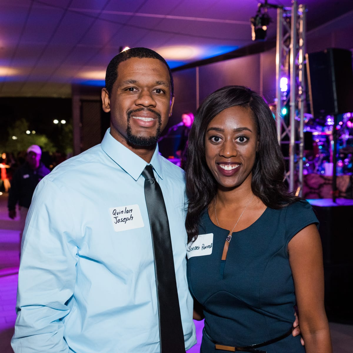 News, Houston Young Lawyers, holiday party, Dec. 2016, : Quinlam Joseph, Sondet Parnell
