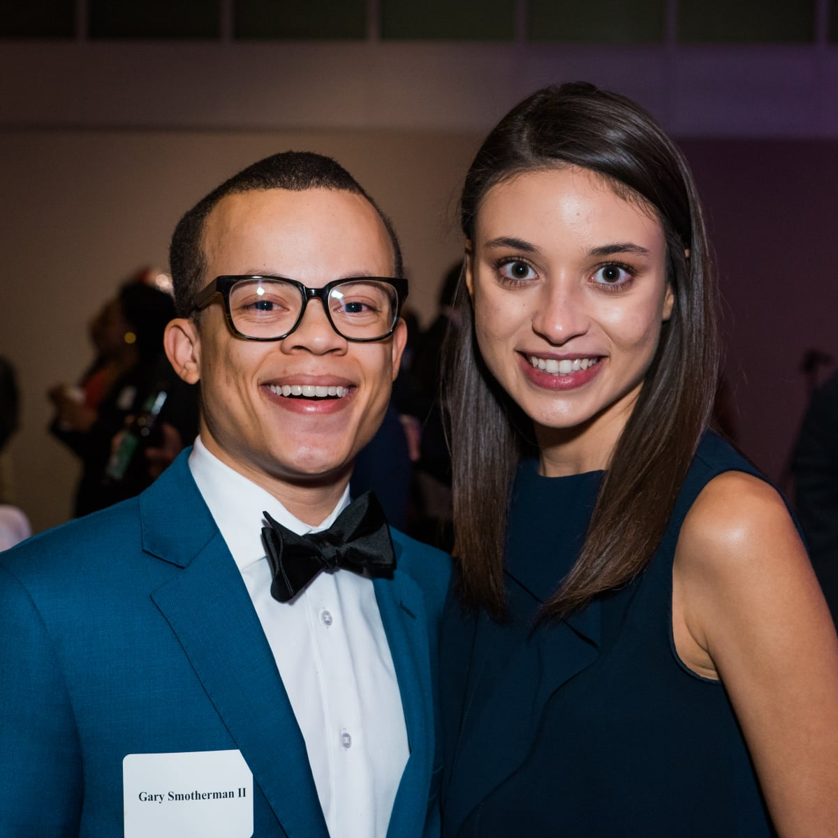 News, Houston Young Lawyers, holiday party, Dec. 2016. Gary and Hanan Smotherman II