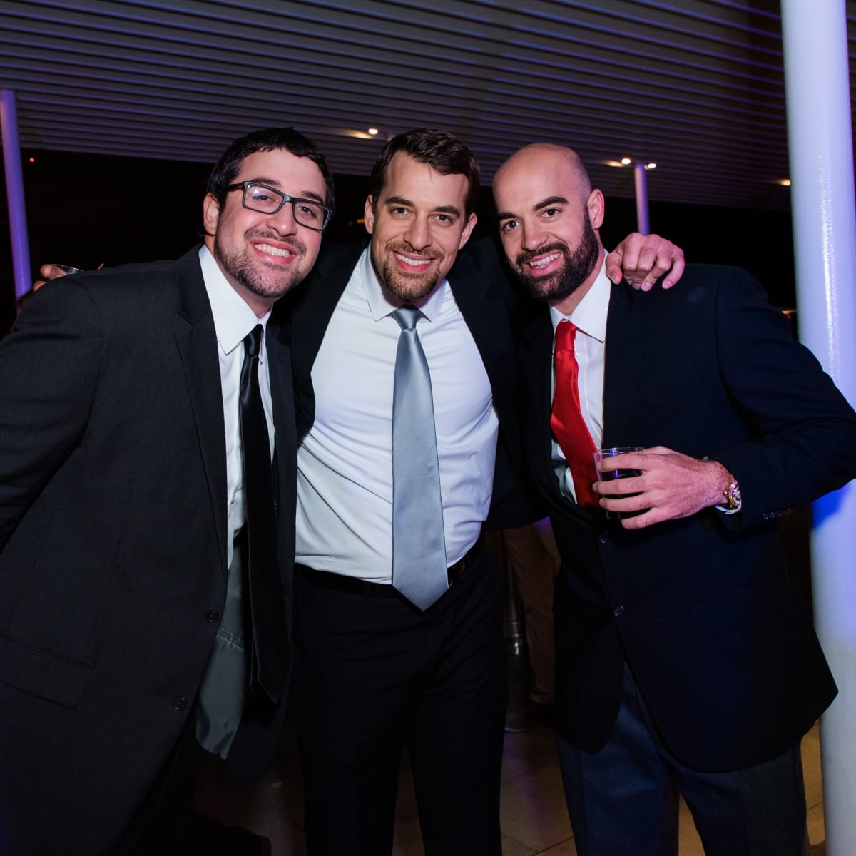News, Houston Young Lawyers, holiday party, Dec. 2016, Mark Walton, Anthony Walton, Andrew Walton