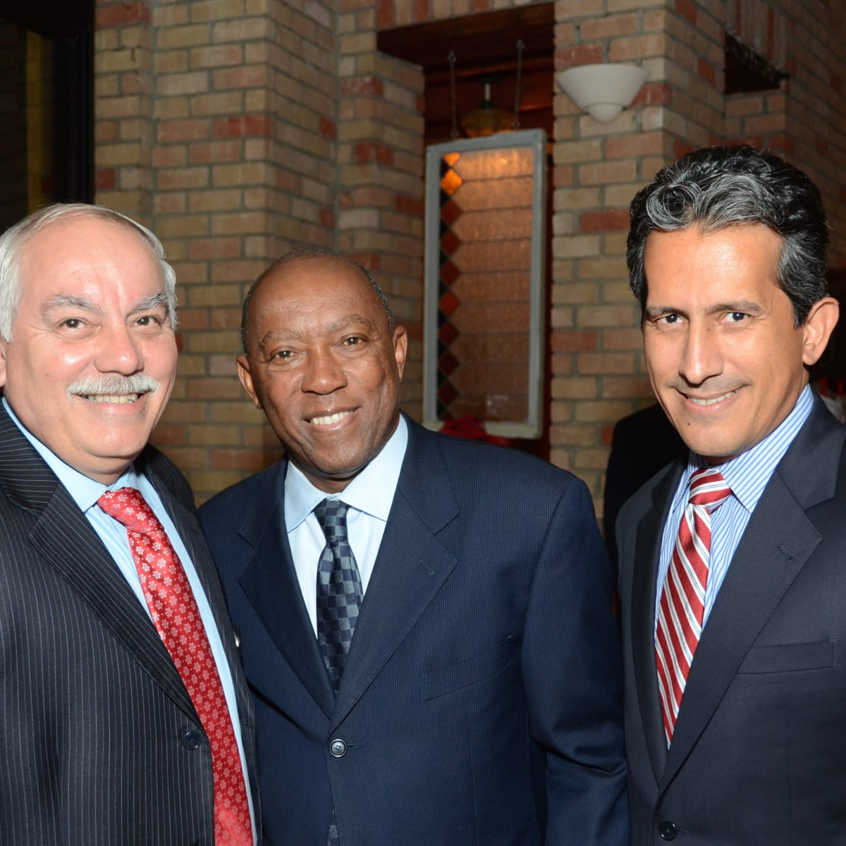 News, Mayor's Hispanic Advisory Board party, Dec. 2015, Johnny Villarreal, Sylvester Turner, Christopher Navarro