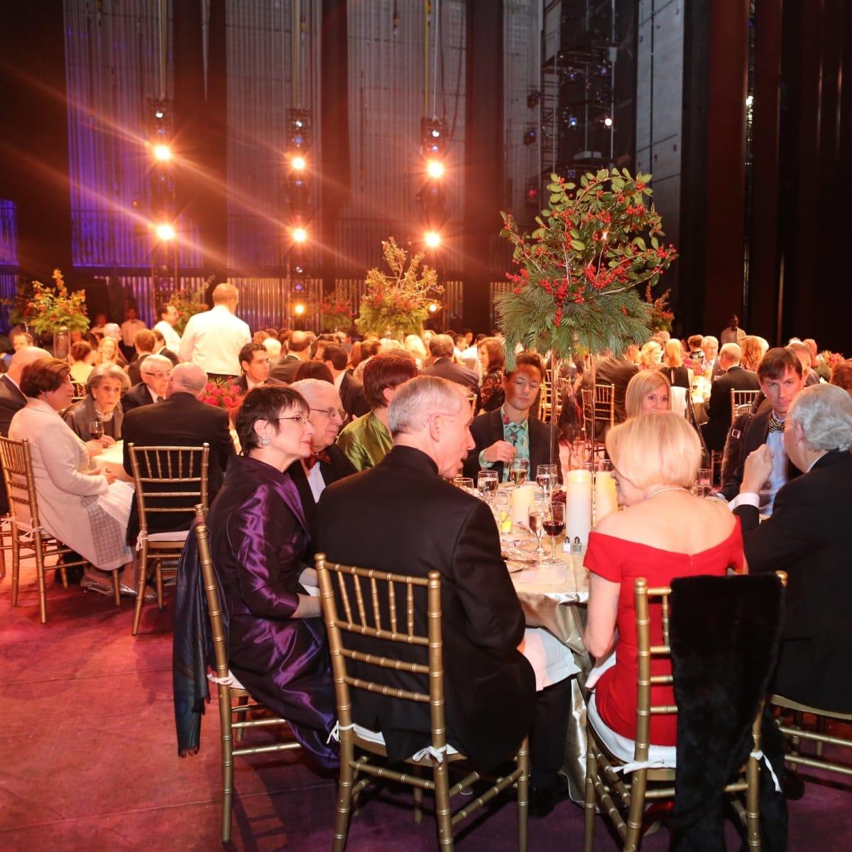 News, Houston Ballet Jubilee of Dance, Dec. 2015, On stage dinner