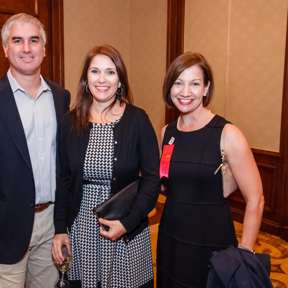 World AIDS Day luncheon Rob Scavone, Jan Leger, Erin Fry