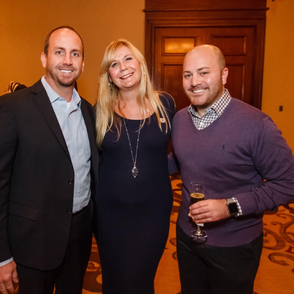 World AIDS Day luncheon Jonathan Johnson, Melody Patelis, Dustin Basco
