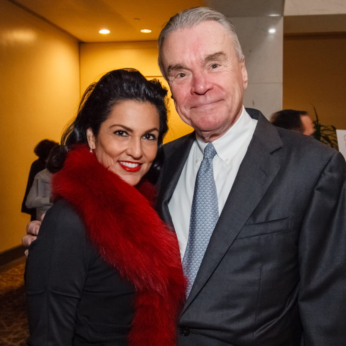World AIDS Day luncheon Jessica Rossman and Gordon Bethune
