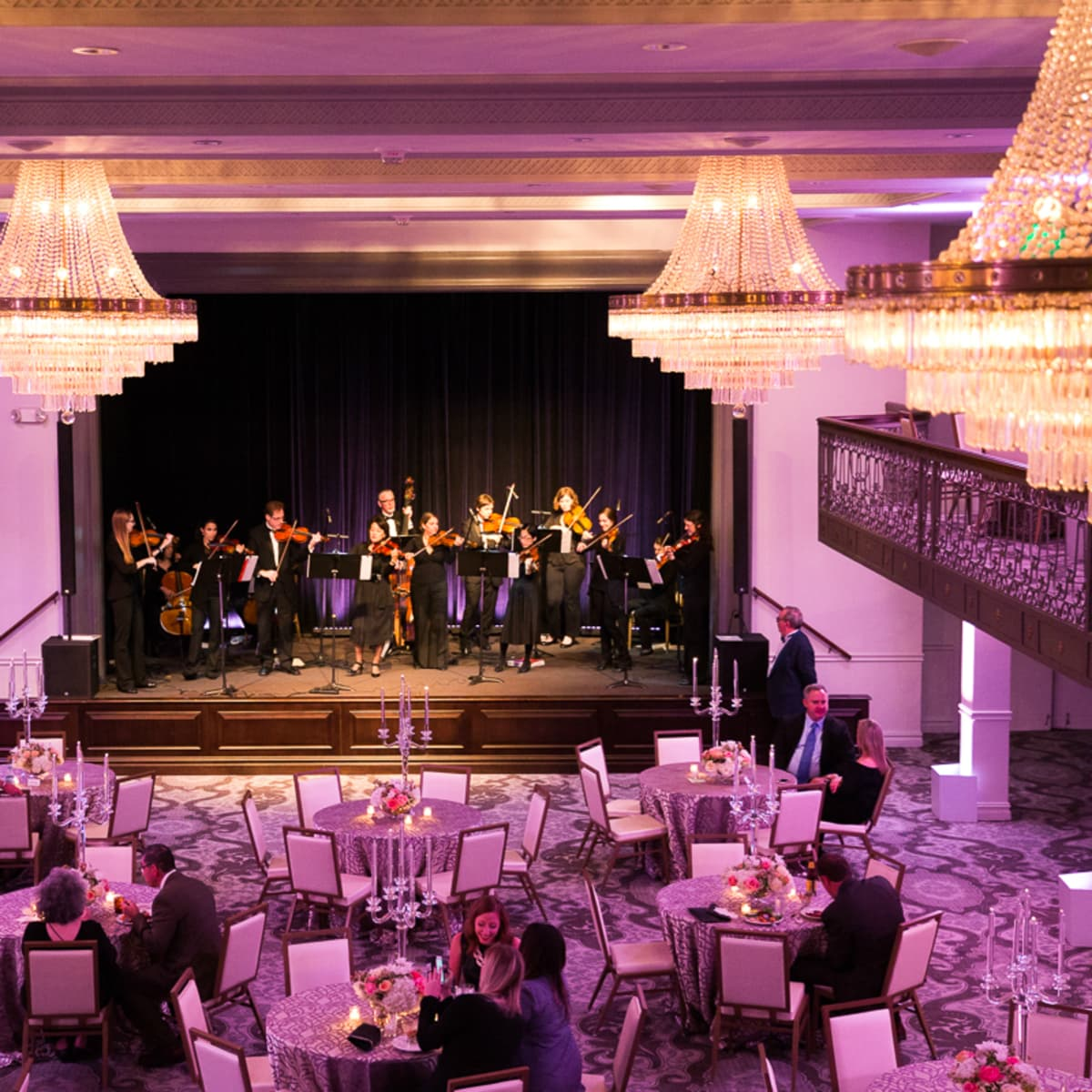 The Saint Anthony Hotel San Antonio Grand Reopening 2015 event hall orchestra