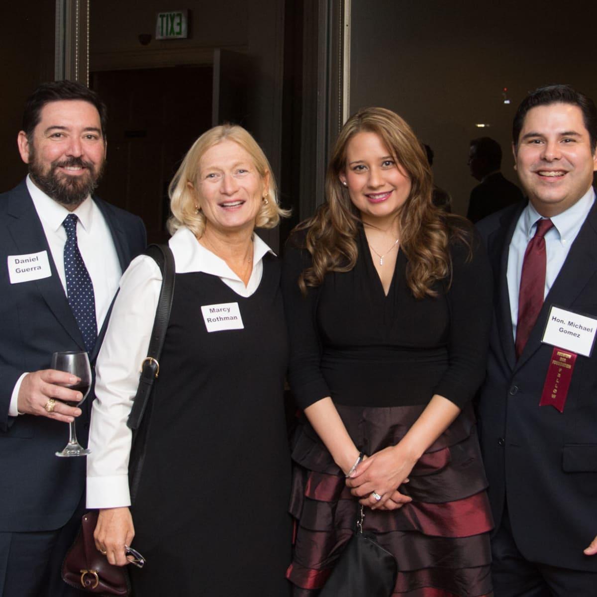 News, Shelby, Houston Bar Harvest Party, Daniel Guerra, Marcy Rothman, Diana Gomez and Judge Michael Gomez