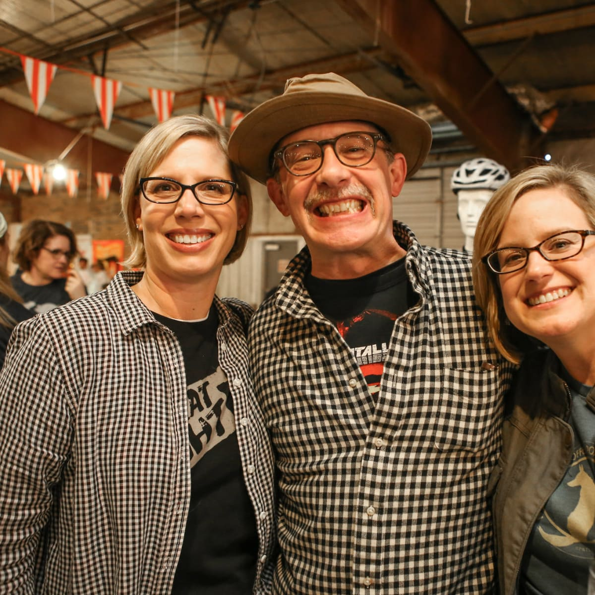 Courtney Luscher, Brian Luscher, and Marta Sprague at Meat Fight 2015