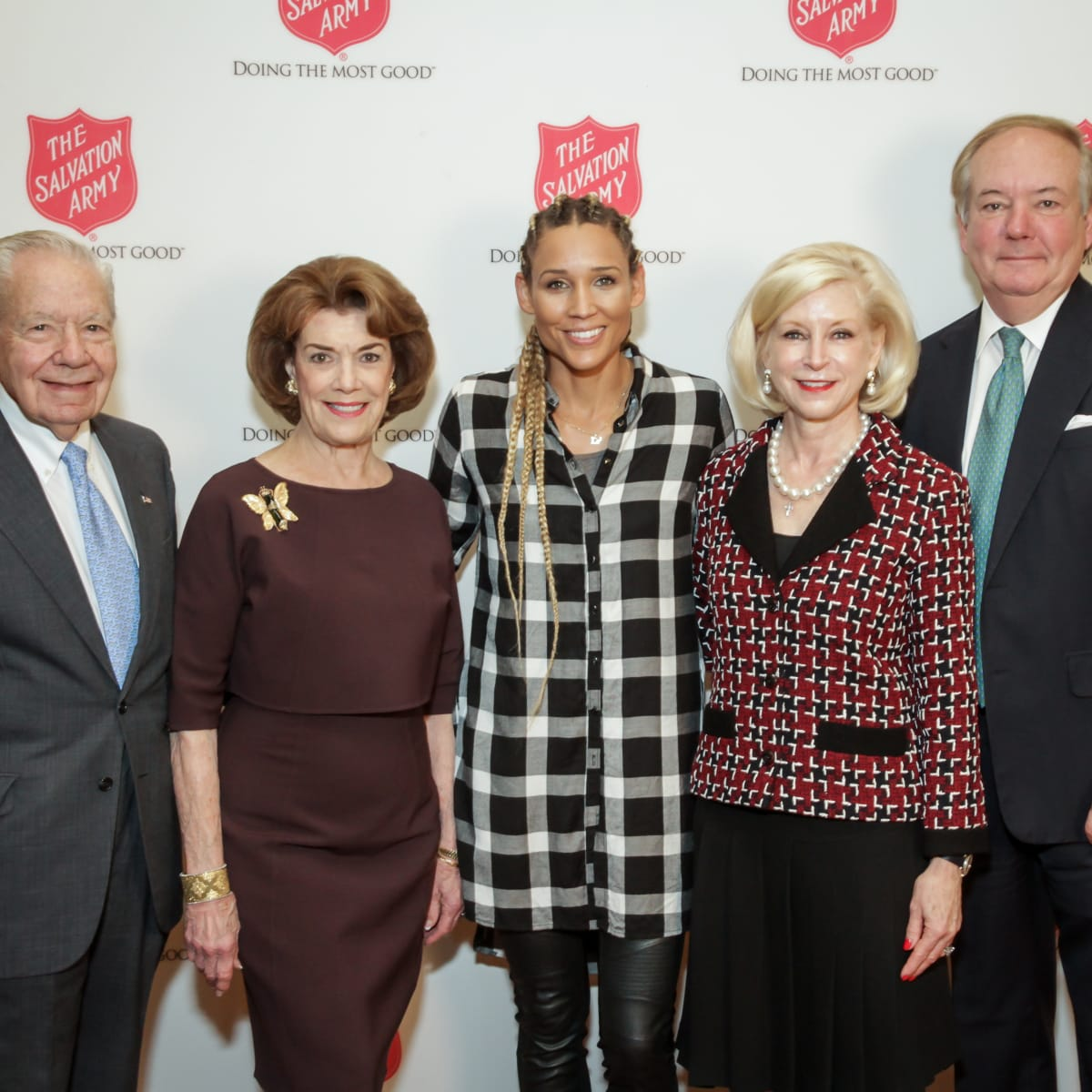 News, Shelby, Salvation Army luncheon, Nov. 2015, Wally Wilson, Jeanie Kilroy Wilson, Lolo Jones, Ann Bookout, John Bookout