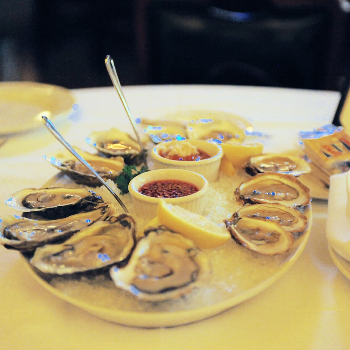Pappas Bros Steakhouse downtown oysters