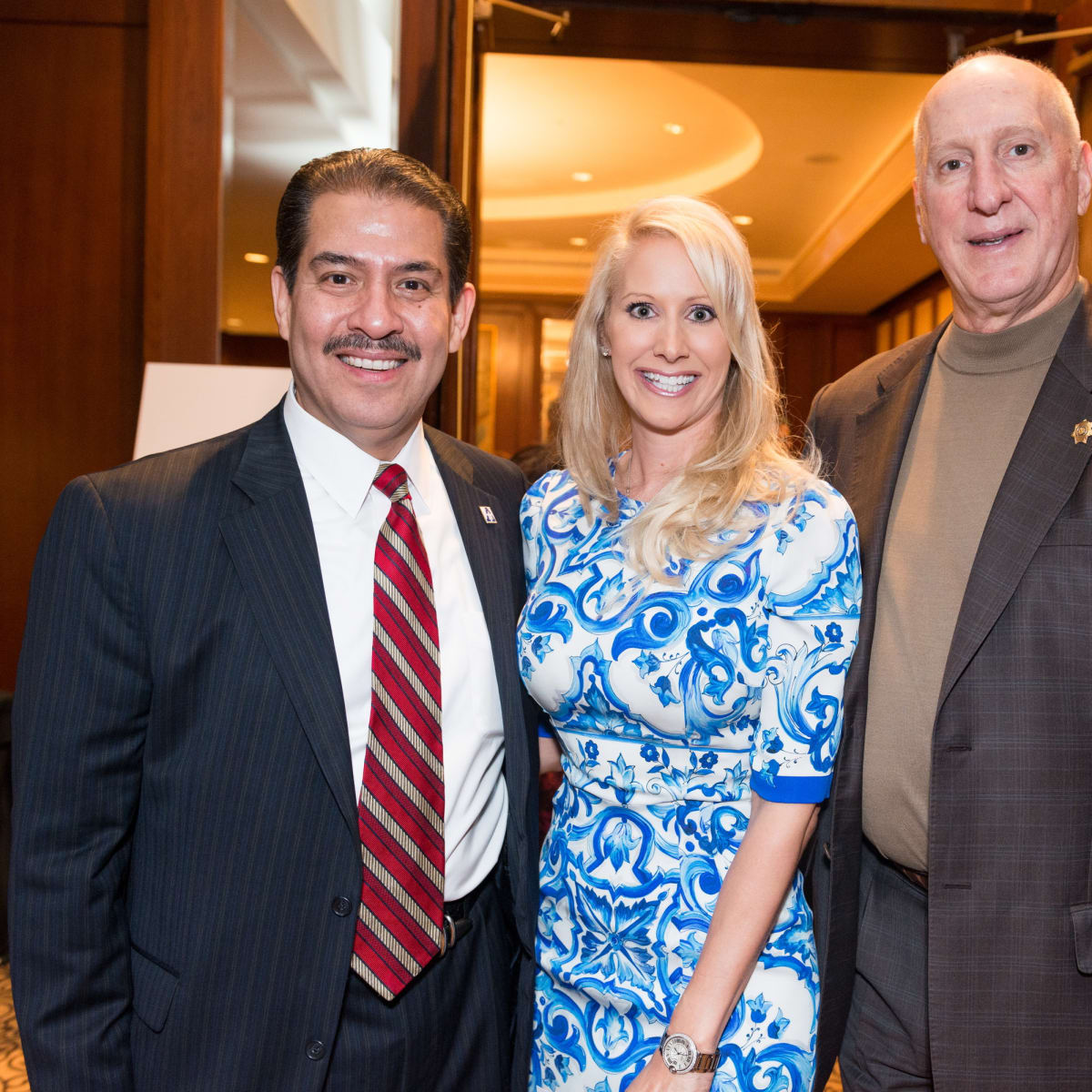 Crime Stoppers Gala Adrian Garcia, Laurie and Tracy Krohn