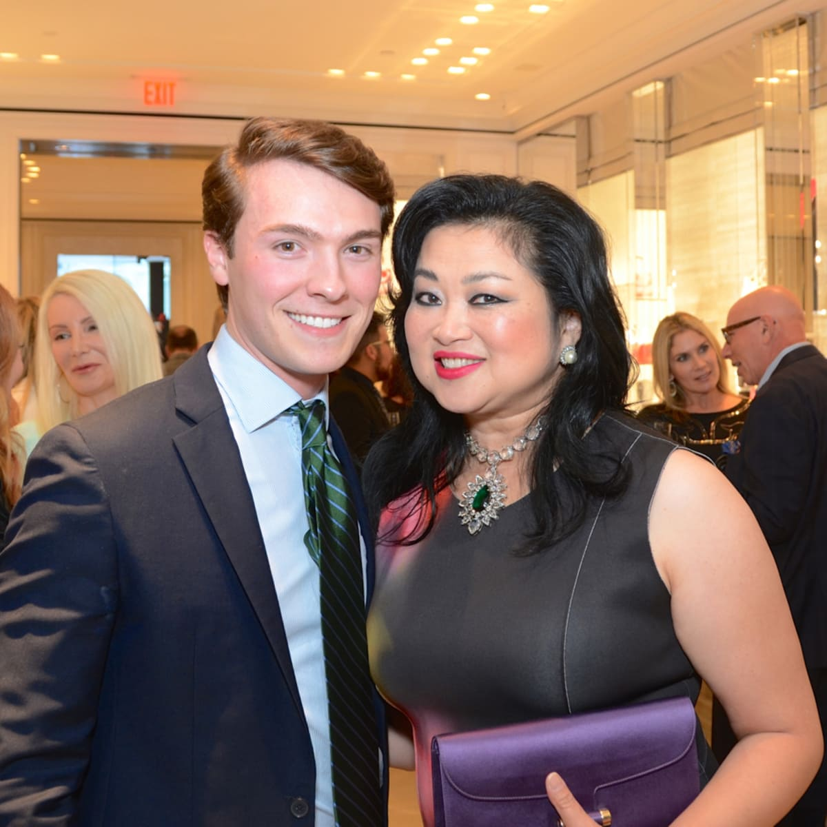 Dior grand opening William Finnorn, Gigi Huang