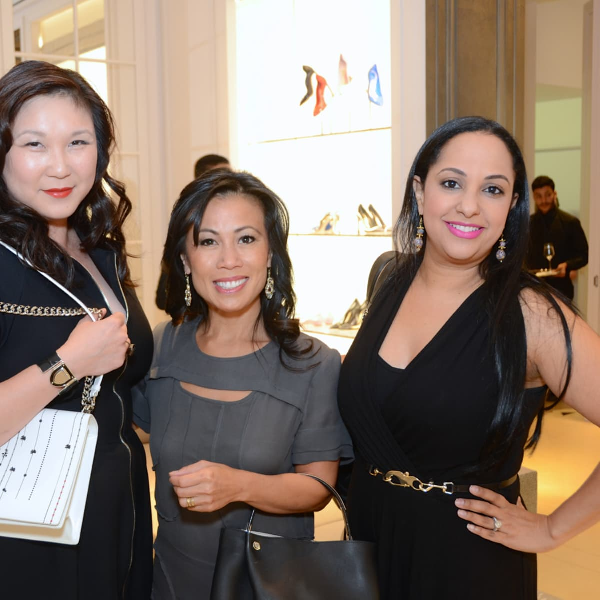 Dior grand opening JL Clark, Chau Nguyen, Noreen Khan-Mayberry