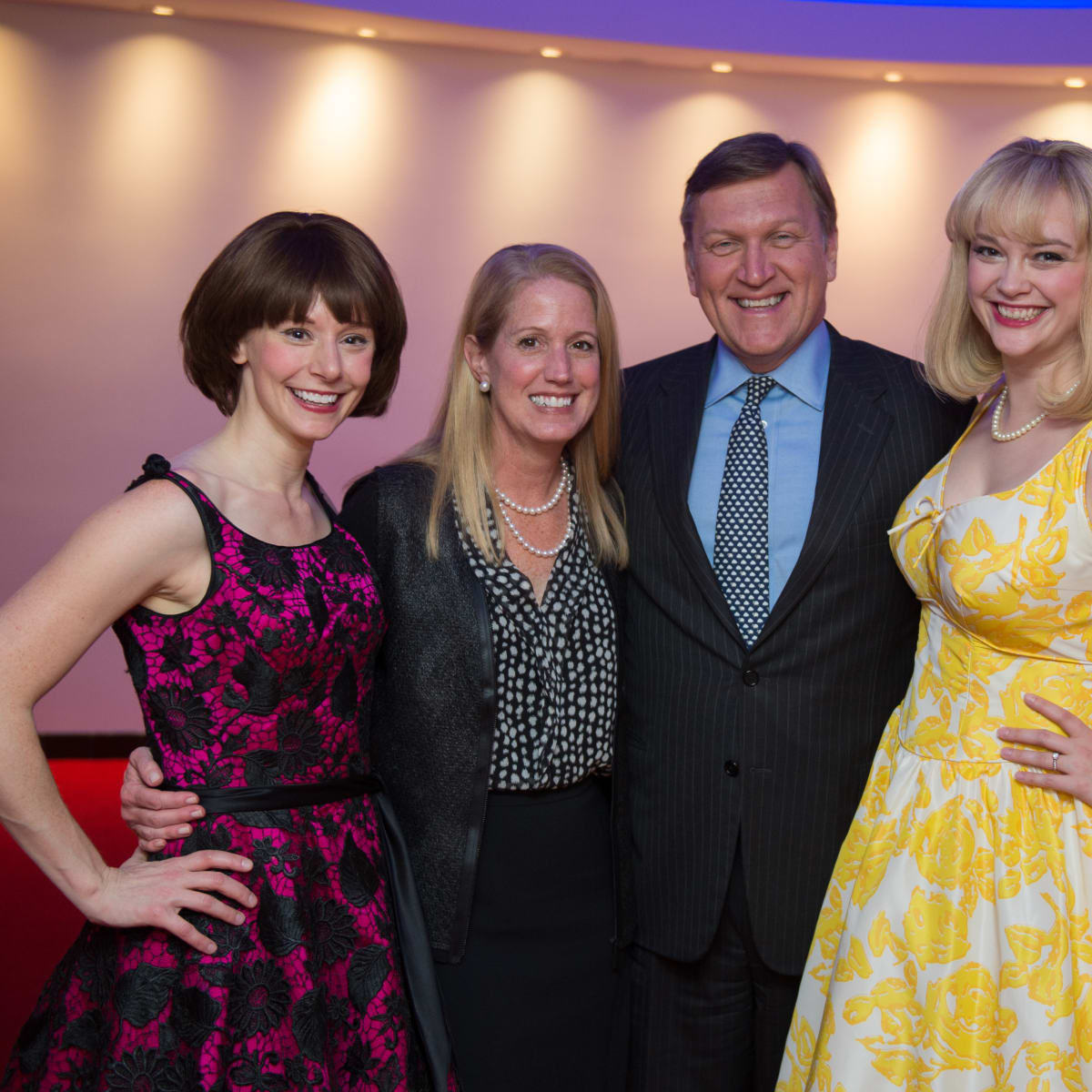 Houston, Alley Theatre opening night, October 2015, Emily Trask, Jennifer Smith, Peter Ragauss, Melissa Pritchett