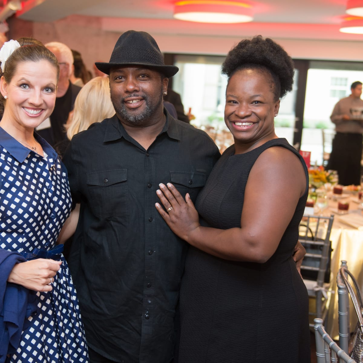 Houston, Alley Theatre opening night, October 2015, Sarah Beth Maddox, Evel Maddox, Gloria Maddox Sarah Beth Maddox, Evel Maddox, Gloria Maddox