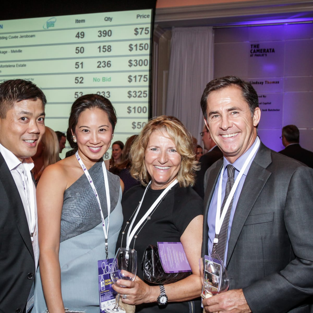 Houston, Periwinkle Foundation Sommelier Competition, September 2015, Gilbert Chin; Melicia Tjoa; Michelle, Douglas De Filippi
