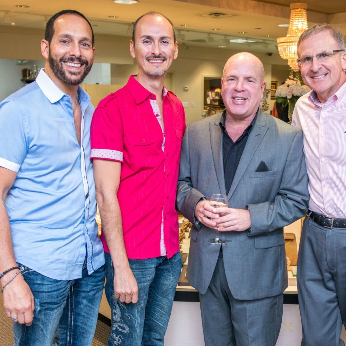 News, Shelby, IW Marks party, Sept. 2015, Jerry Gardsbane, Alex Cuevas, Danny Kallen, Jack Berger
