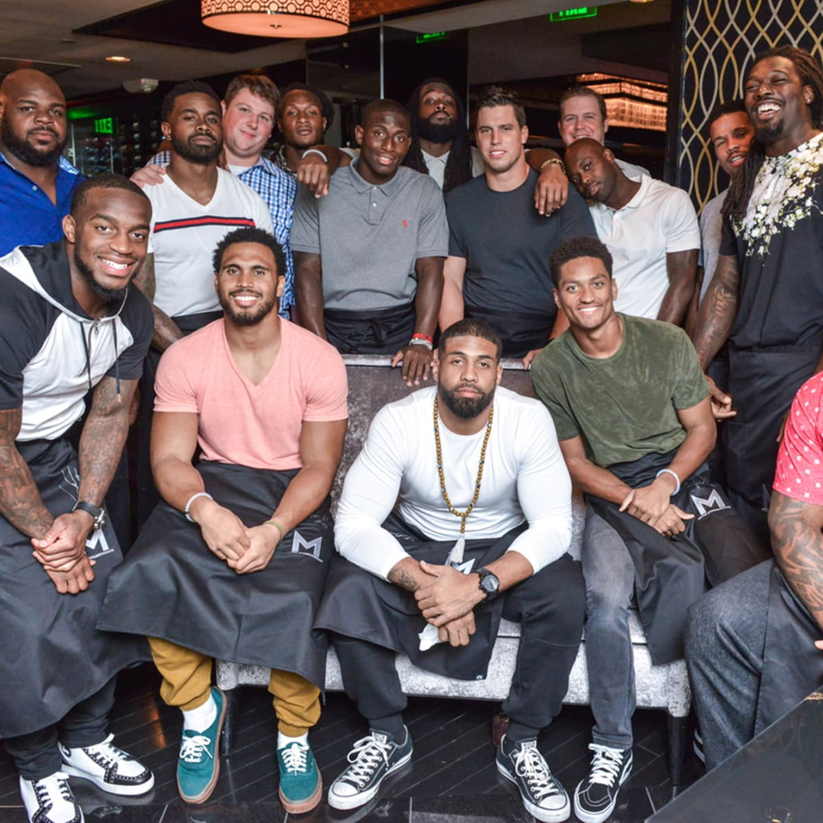 Arian Foster charity dinner Morton's Houston Texans players