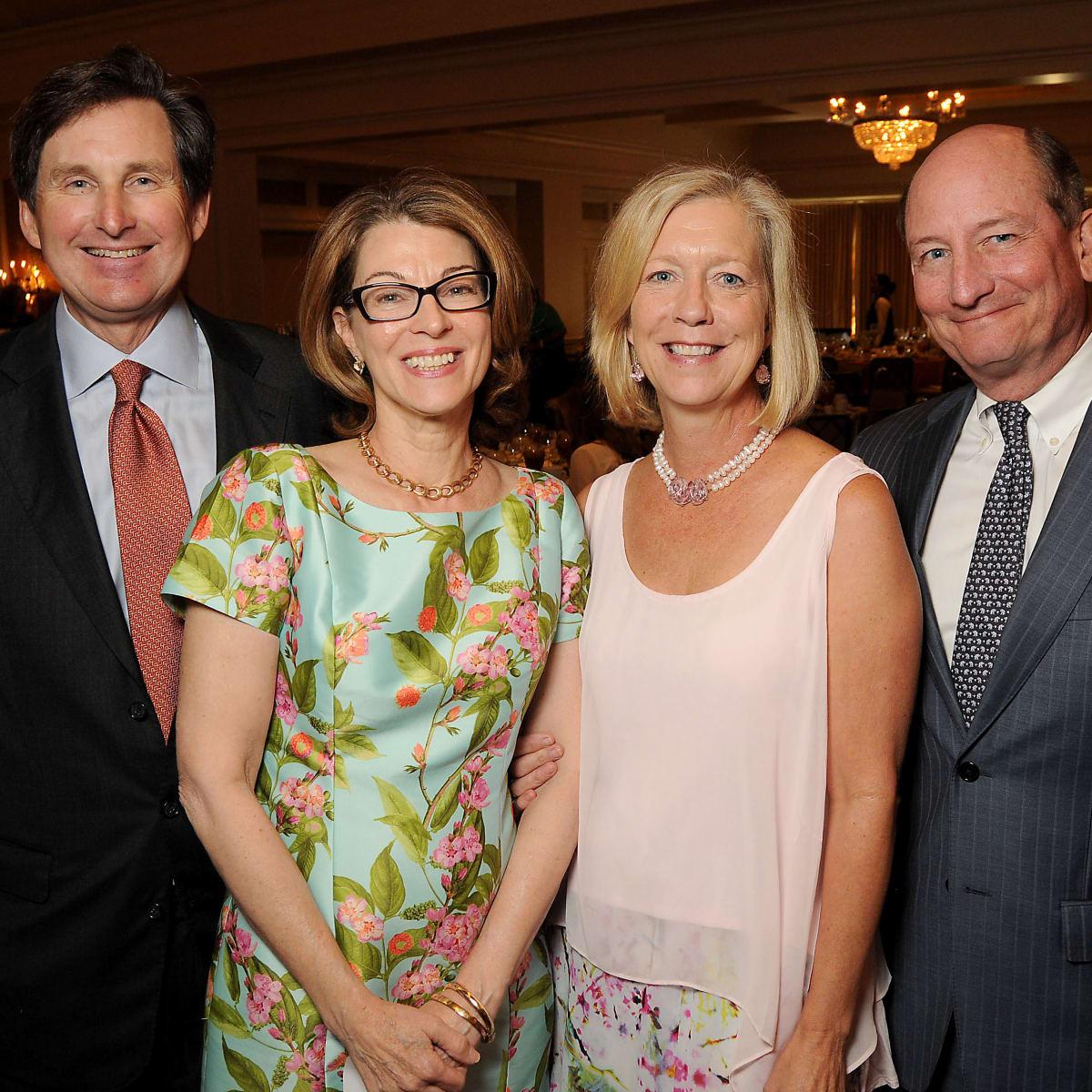 News, Shelby, Houston Botanic Garden Lunch, Sept. 2015, Richard and Martha McDugald wth Emily and Carlton Wilde