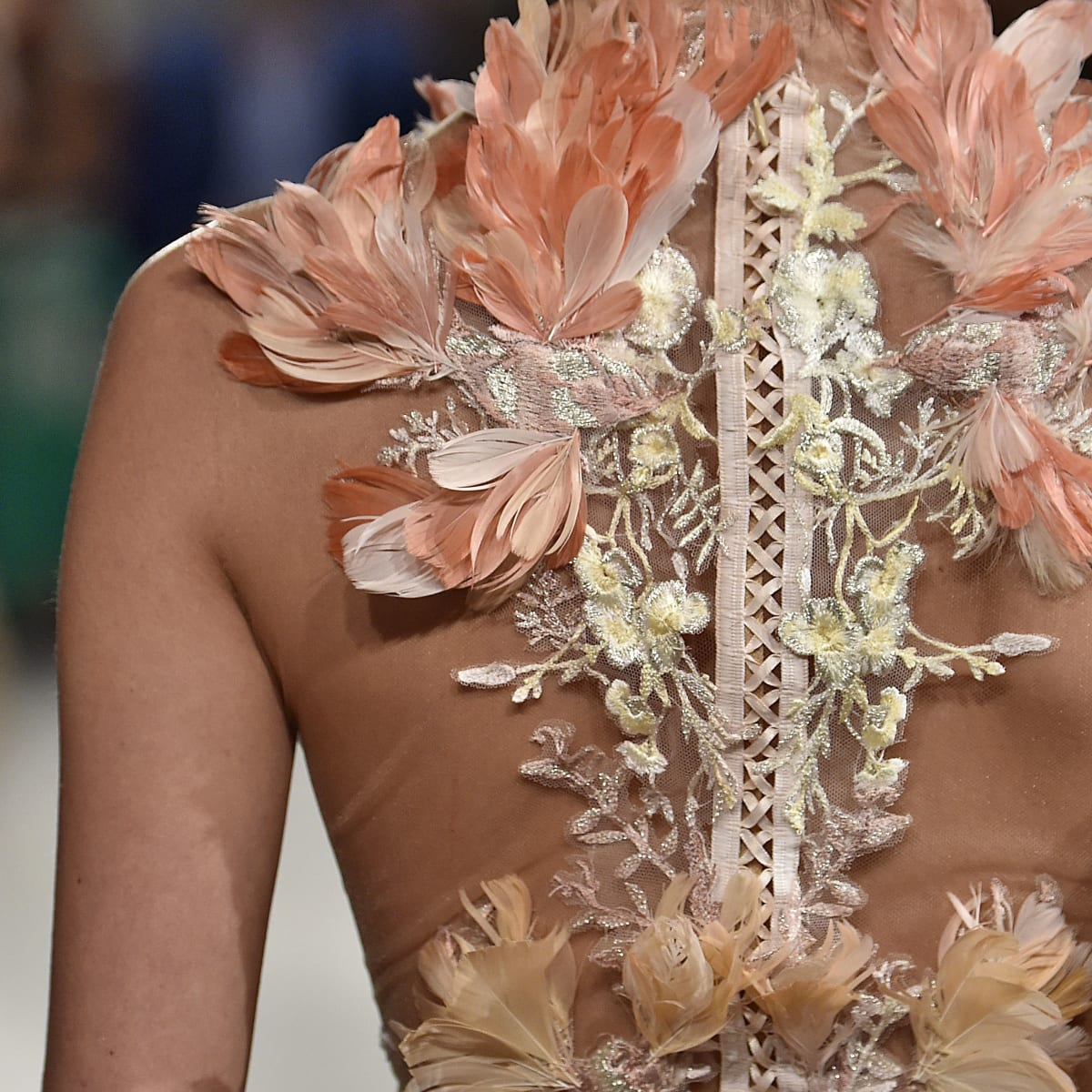 Marchesa spring 2016 collection from back view