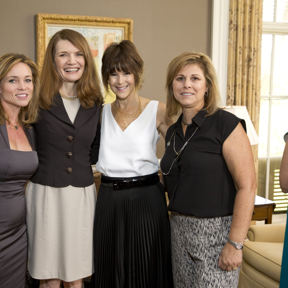 News, Shelby, Small Steps luncheon, Sept. 2015, Aimee Snoots, Jeannette Walls, Julie Howie, and Amy Howie