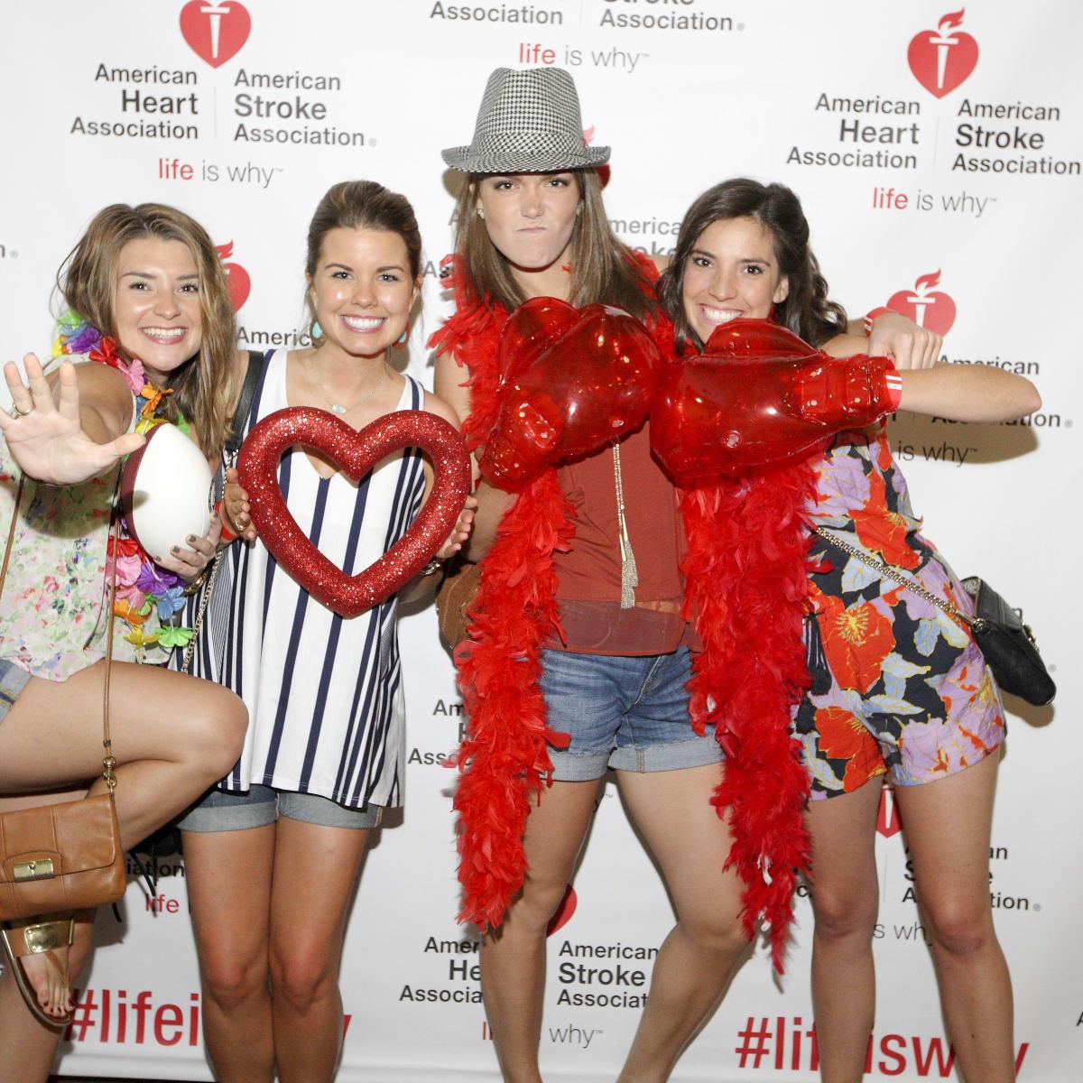 AHA YP mixer Allie Heath, Emily Watson, Jennifer Jordon, Allison Kingsley