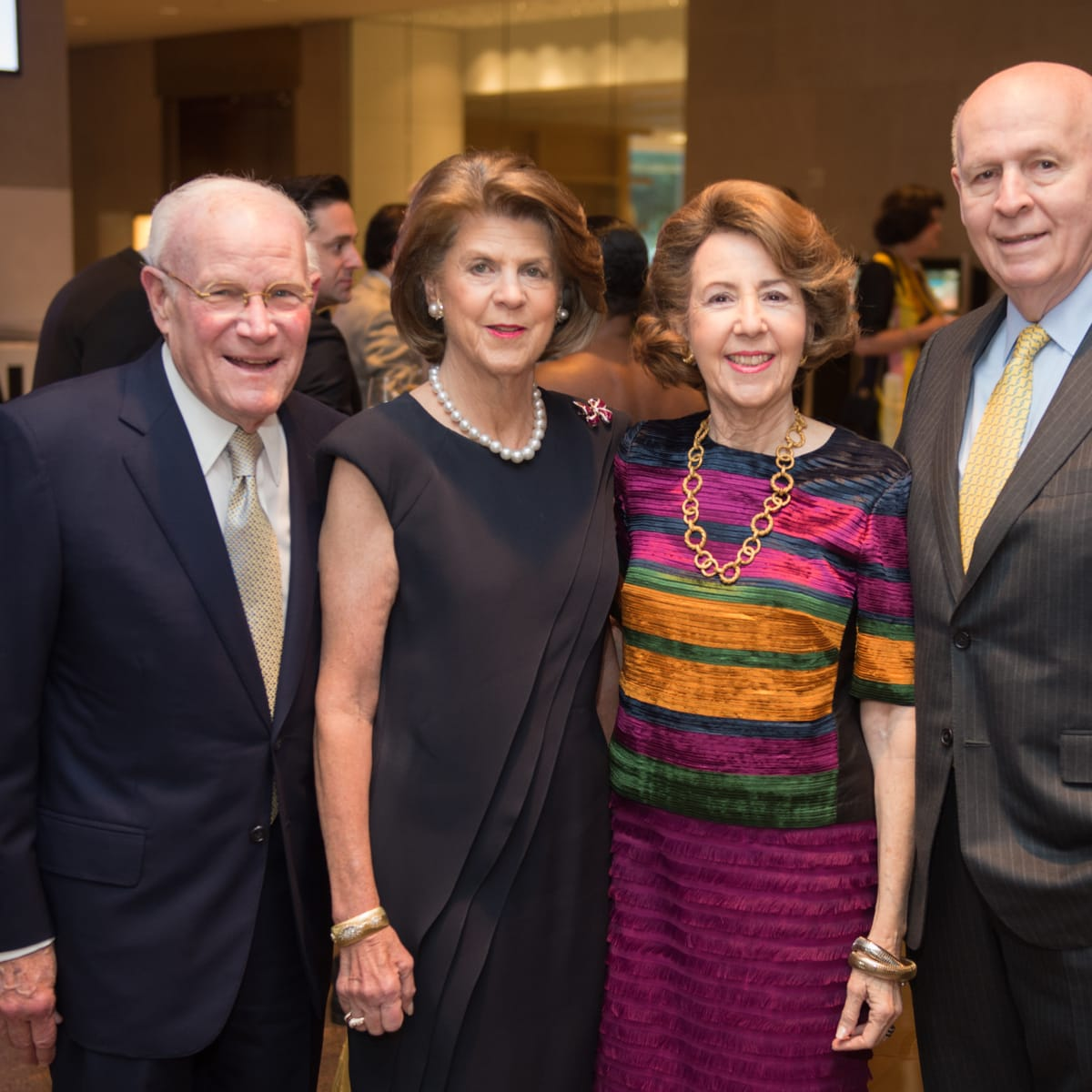 News, Shelby, MFAH Rothko opening, Sept. 2015 Rodney and Judy Margolis, Gail and Louis Adler