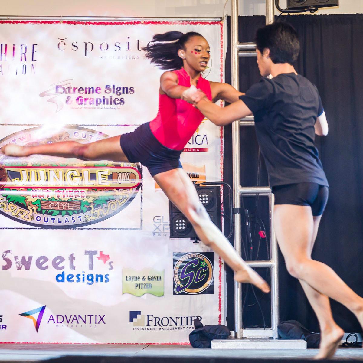 Booker T. Washington High School Dancer