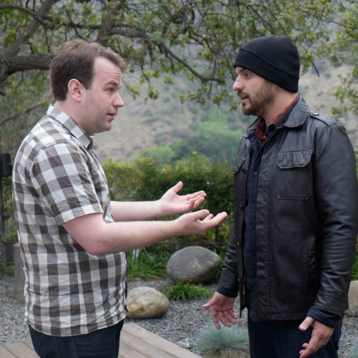 Mike Birbiglia and Jake Johnson in Digging for Fire