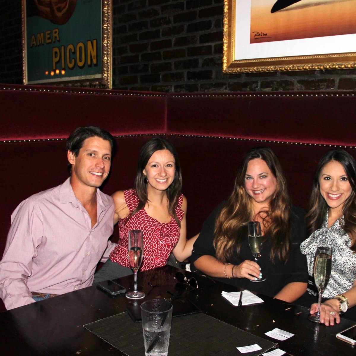 Houston, Friends of Depelchin Back to School Happy Hour, August 2015, Kevin Gilbert, Melissa Gilber, Natasha Paster, Rebecca Cantu