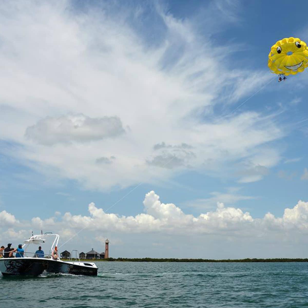 Chute Em Up Parasailing Port Aransas Gulf of Mexico boat