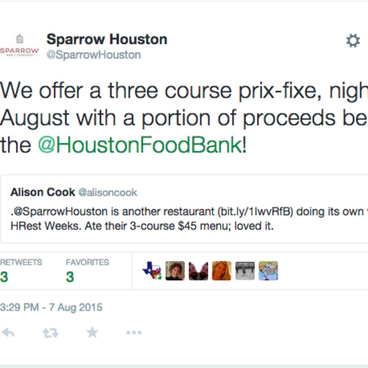 Sparrow HRW donation screen shot