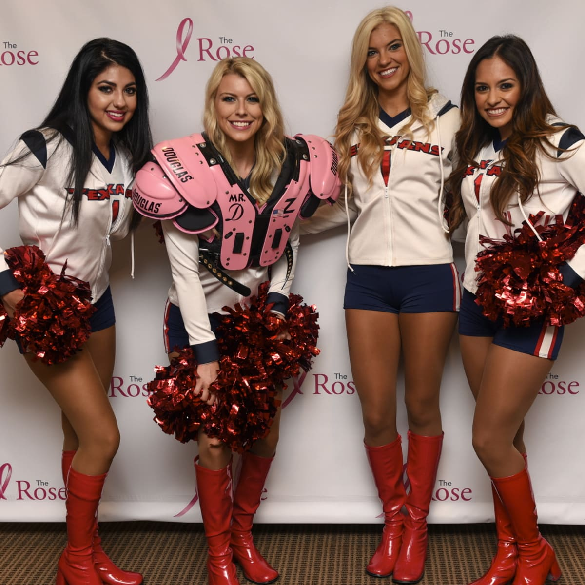 Houston, The Rose Pink Pads, July 2015, Texans cheerleaders