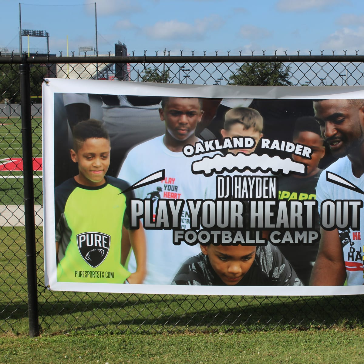 DJ Hayden Football Camp 2015 sign
