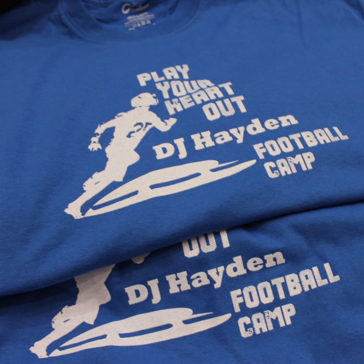 DJ Hayden Football Camp 2015 shirts