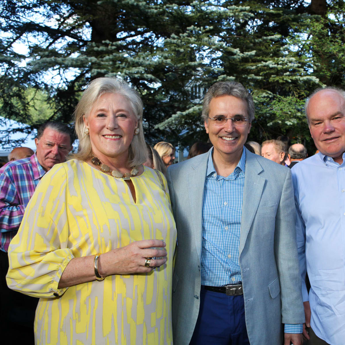 News, Shelby, M.D.Anderson in Aspen, July 2015, Nancy Dunlap, Dr. Ron DePinho, Clint and Nancy Carlson