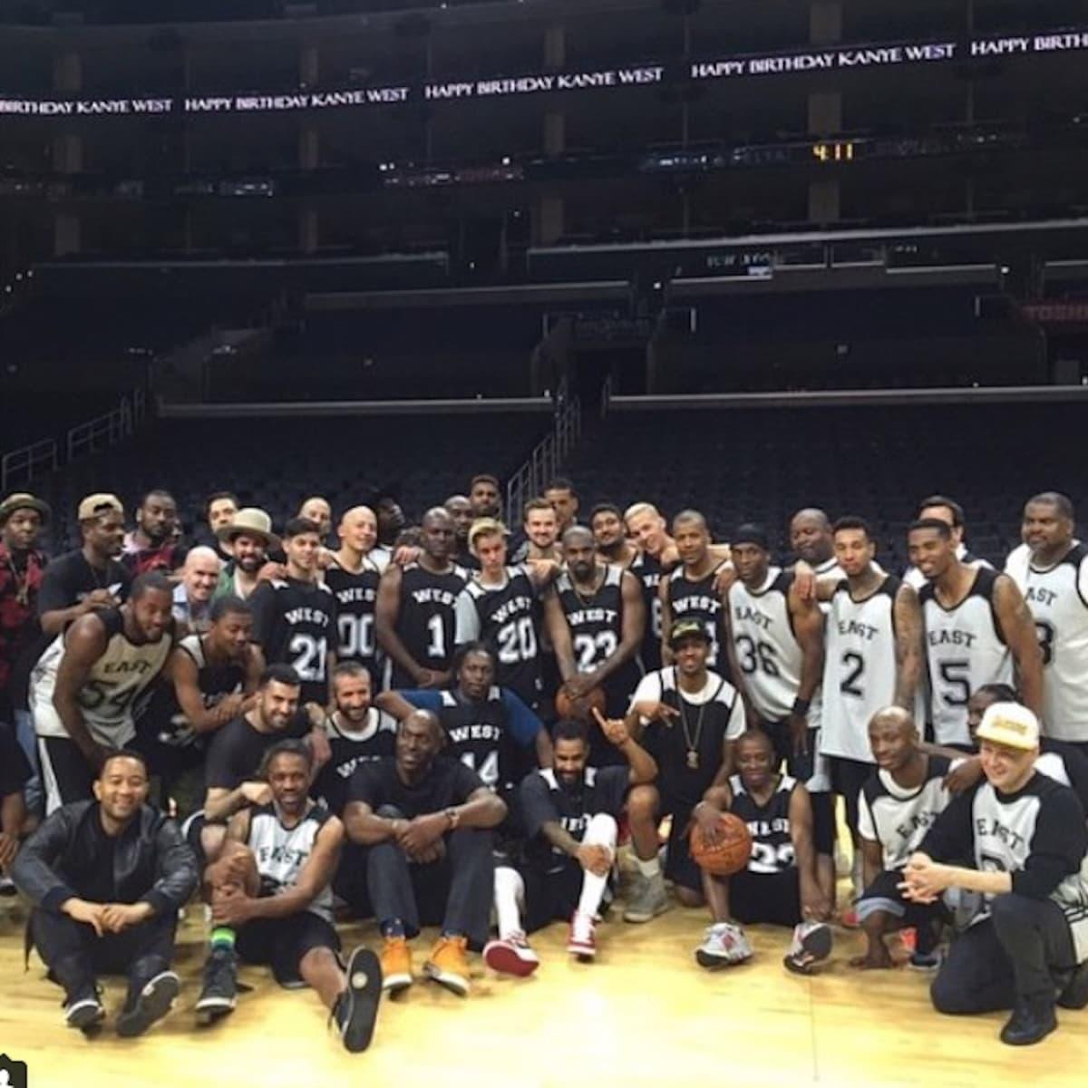 Houston, Kanye West birthday party at Staples Center_July 2015