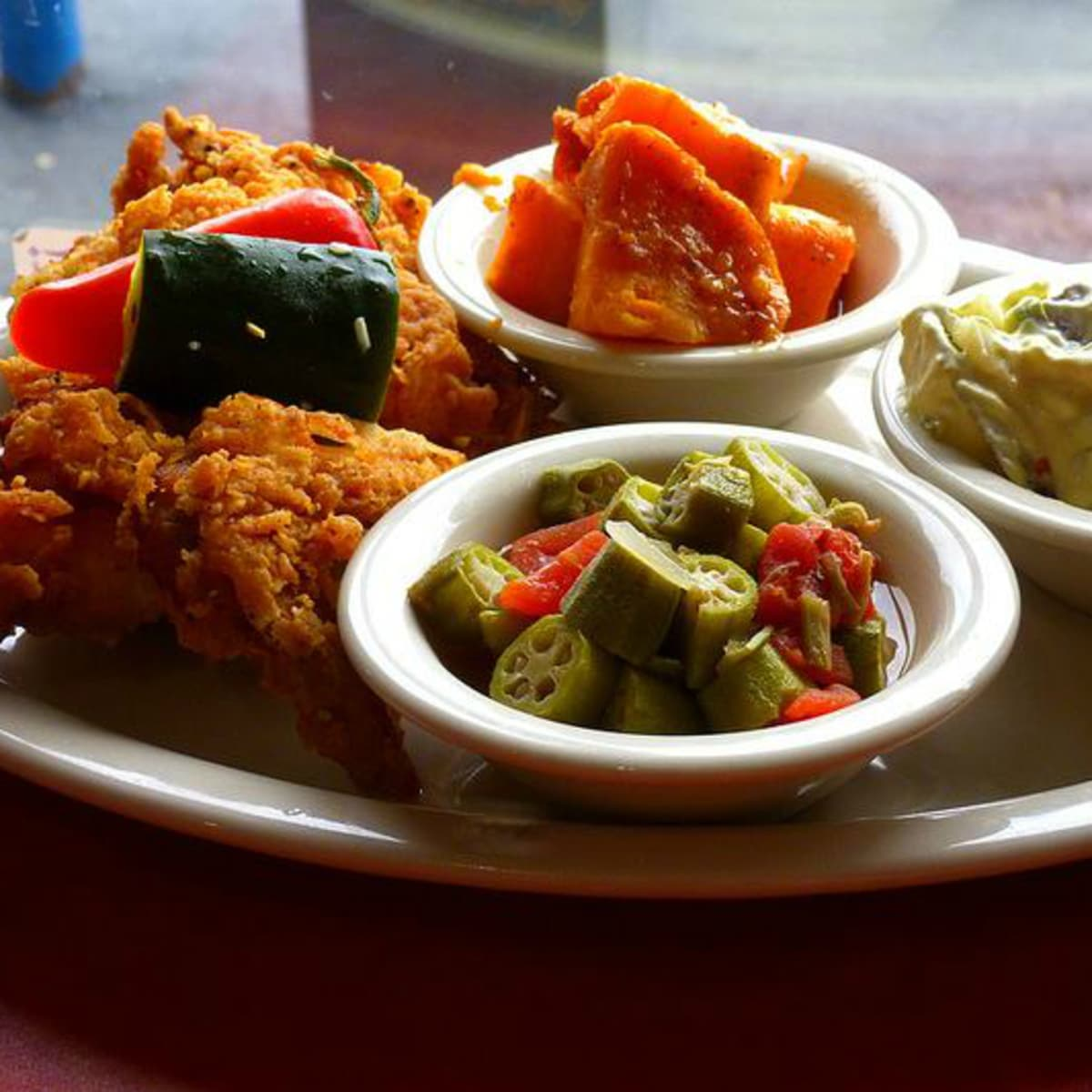 Hoover's Cooking Austin restaurant food plate 2015