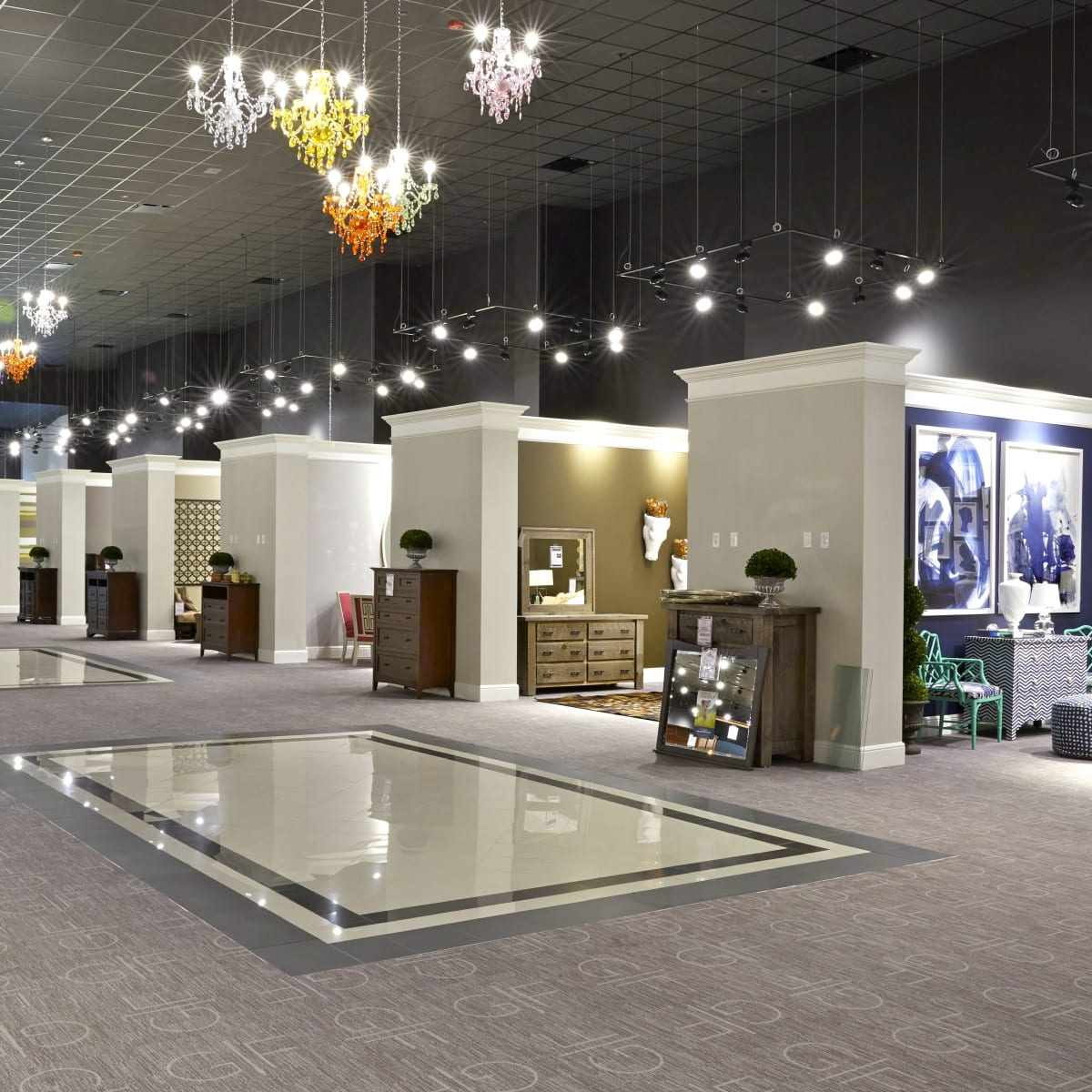 Houston, Gallery Furniture Grand Parkway Opening, June 2015, Gallery Furniture Grand Parkway interior