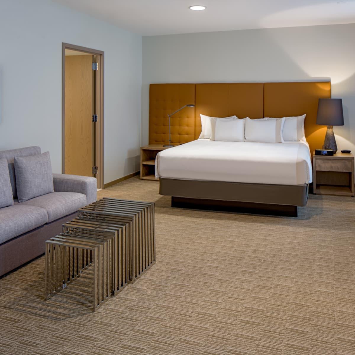 Hyatt Regency two story suites master bedroom