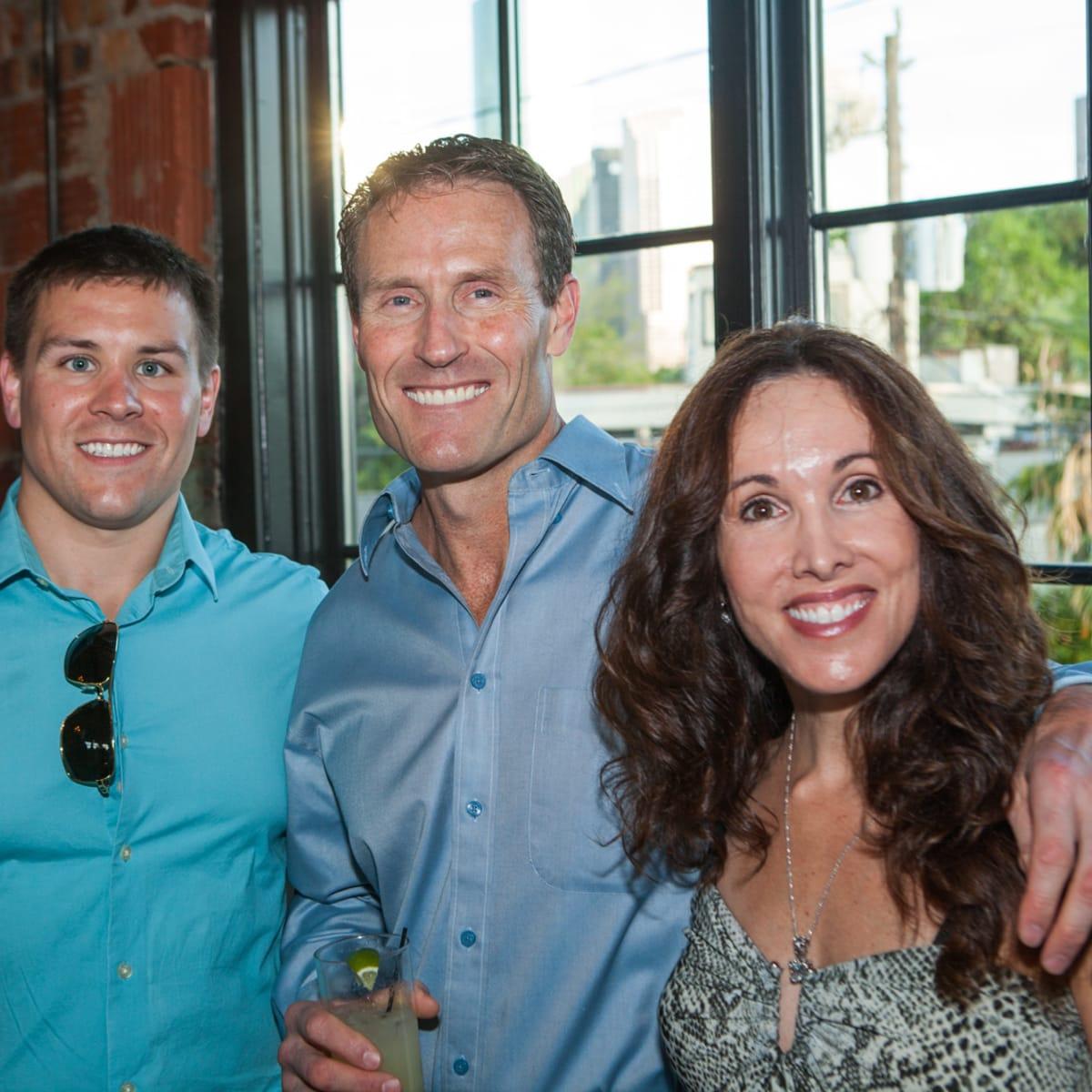 Houston, Pastorini party, June 2015, Garrett Theriot, Dean Theriot, Jennifer Theriot