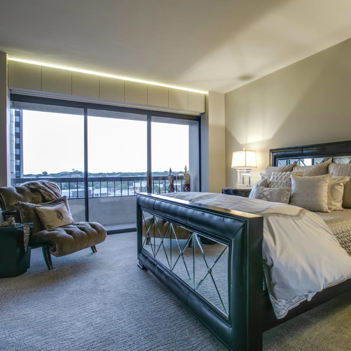 Bedroom at 3831 Turtle Creek Blvd. in Dallas