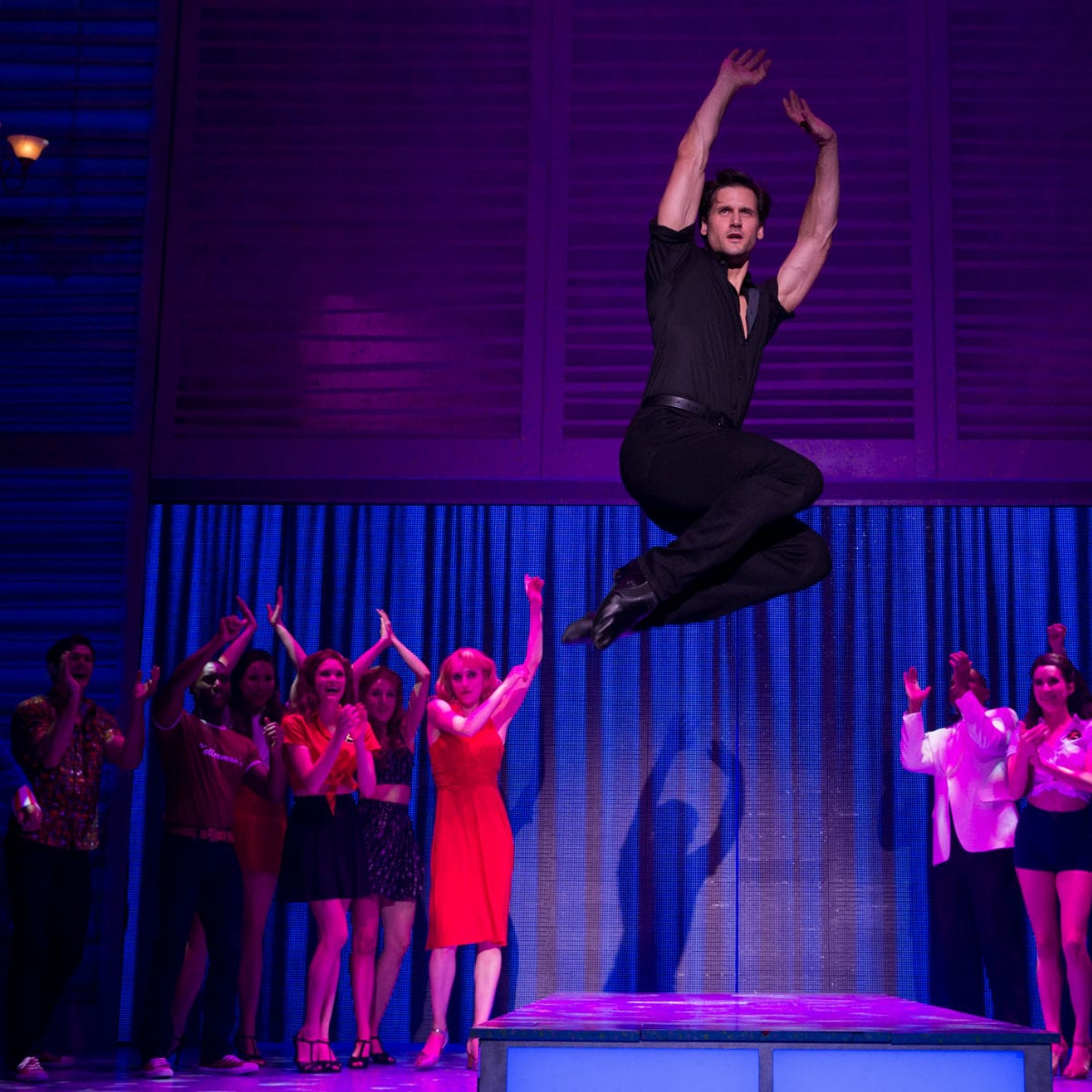 Samuel Pergande and Gillian Abbott in Dirty Dancing