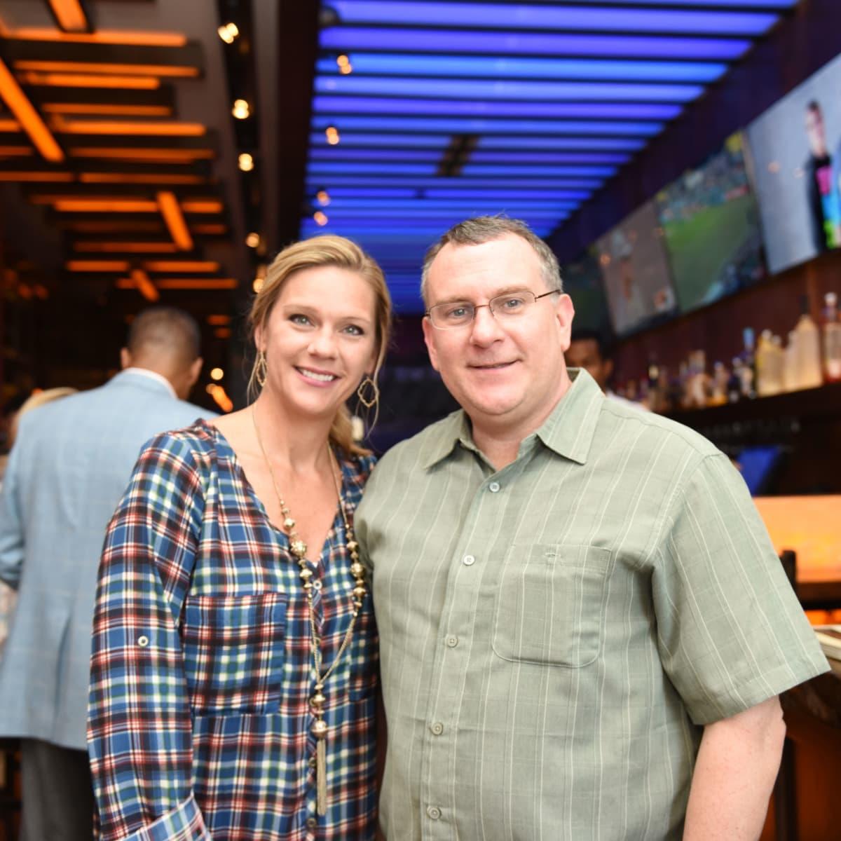 Houston, George Springer Bowling Benefit Kick Off, June 2015, Ashley Richter, Lyndell Massengale